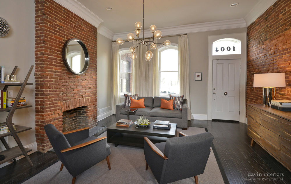 Charming Davin Interiors Decorated A Recently Renovated Townhouse In A Historic Area  In Pittsburghu0027s North Side. The More Than 100 Year Old Townhouse Is Now  Home To ...