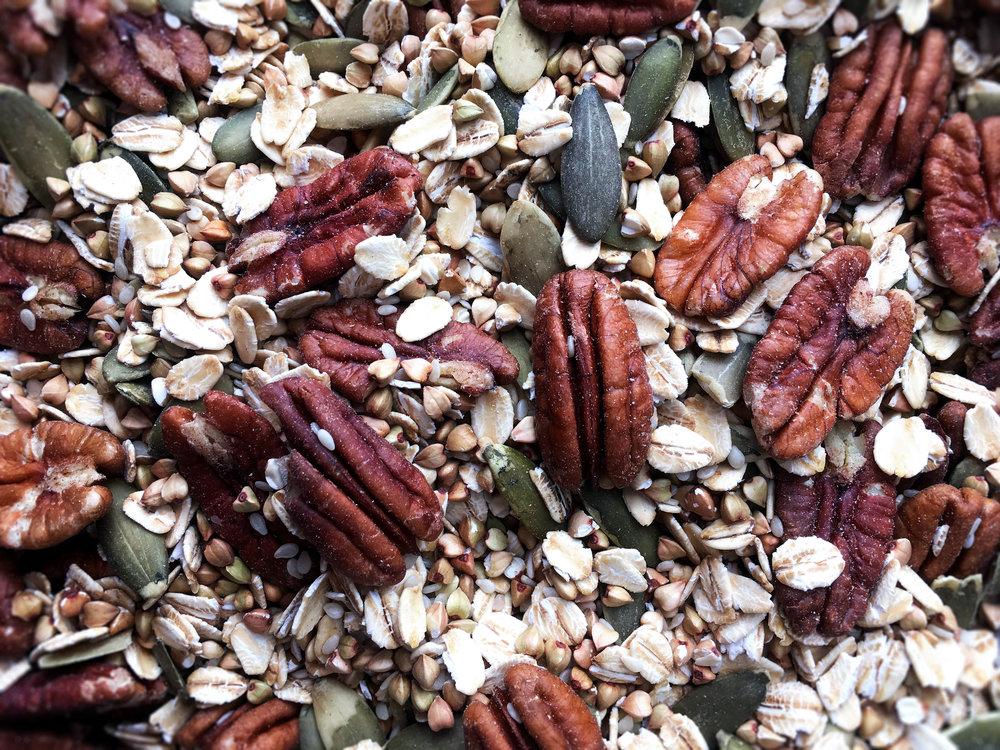 gluten free vegan buckwheat granola ingredients