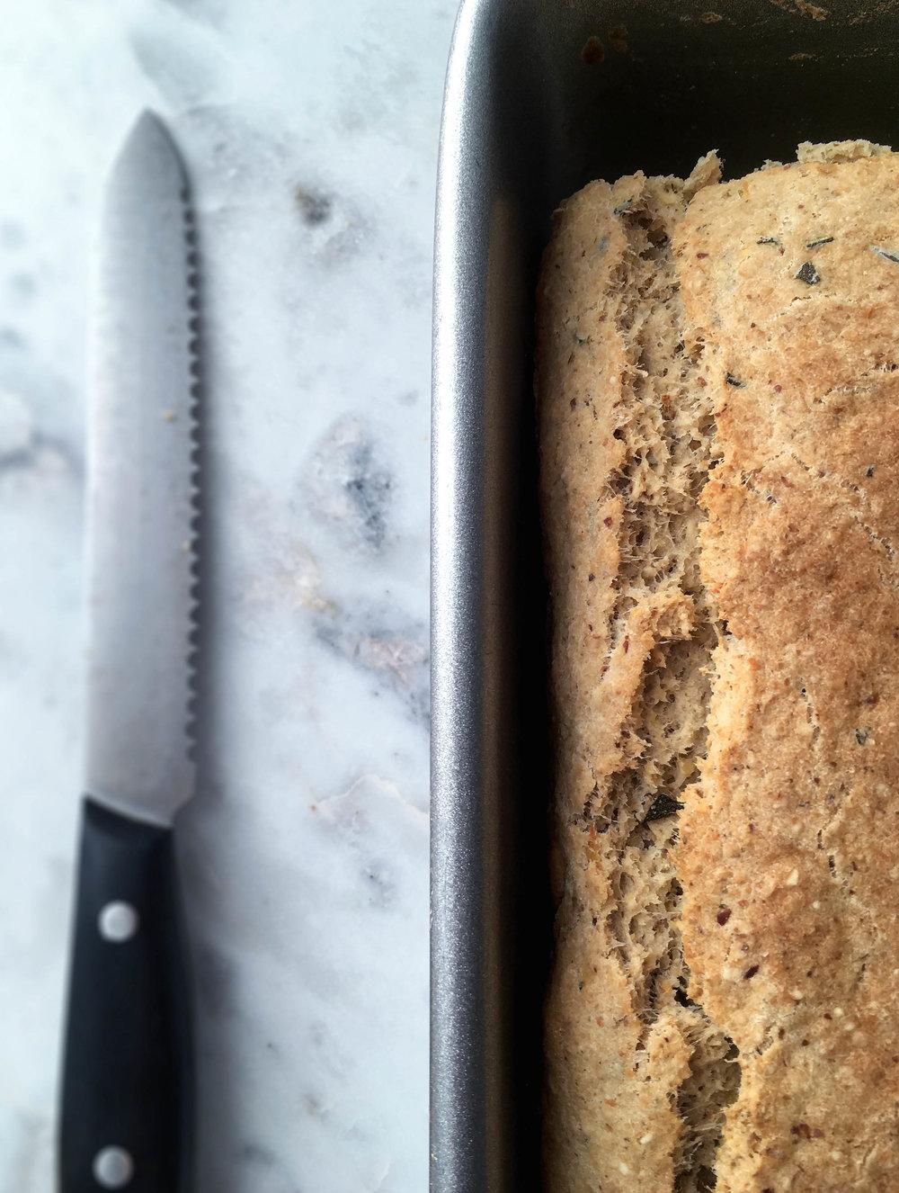 gluten free vegan rosemary potato bread