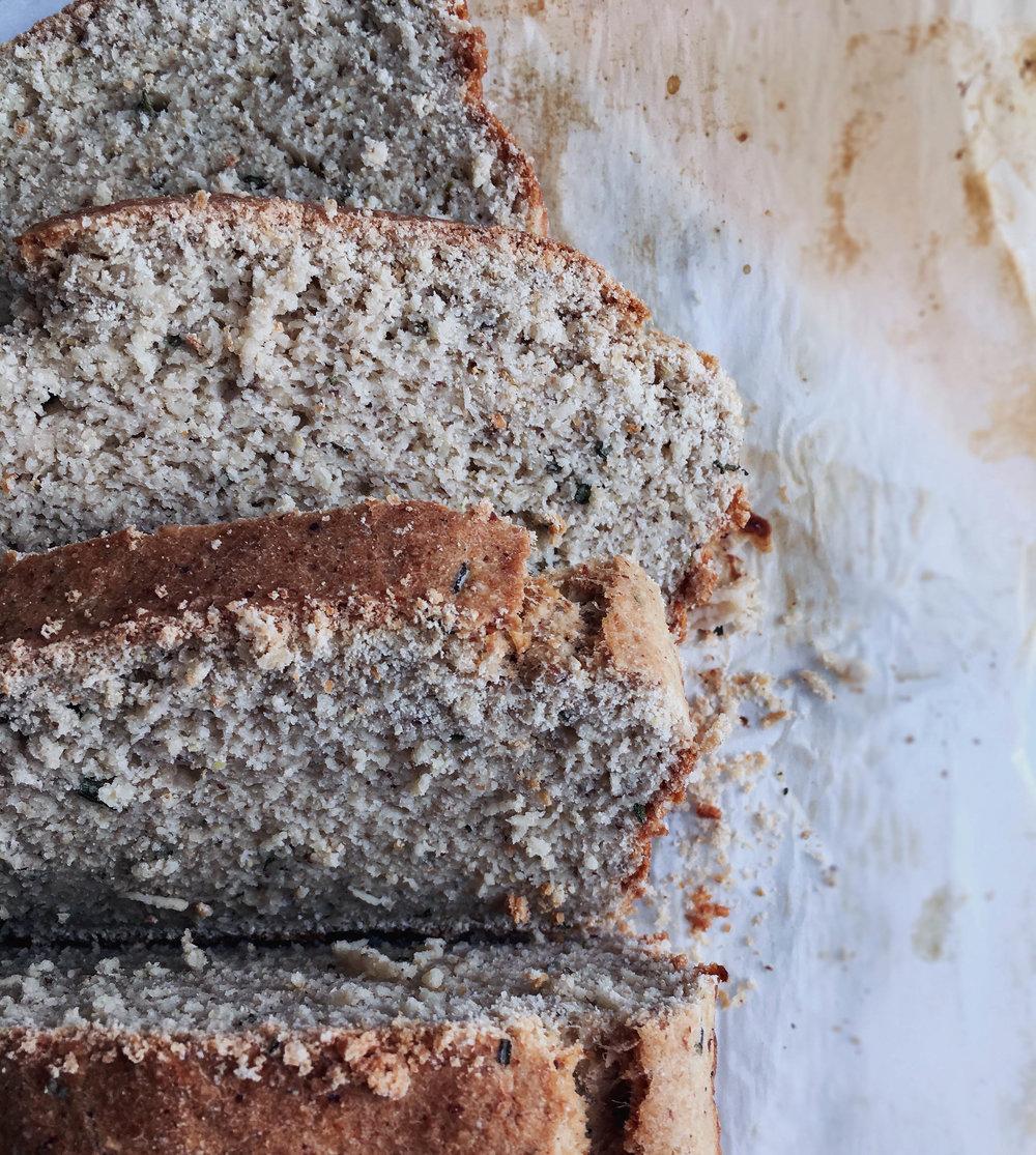vegan gluten free rosemary potato bread