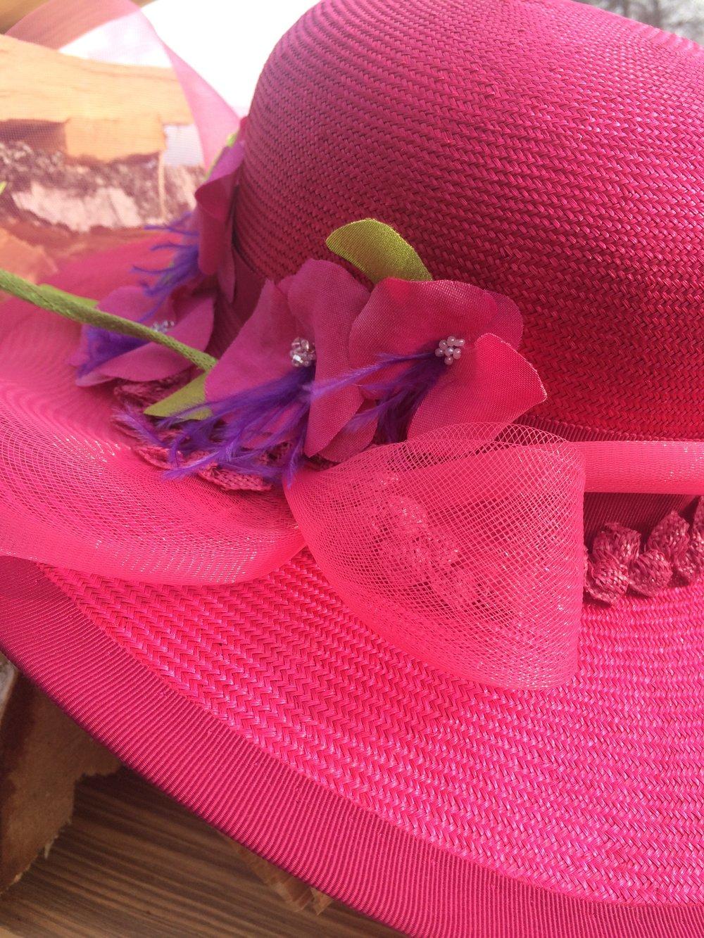 Parasisol hatt med orkideér