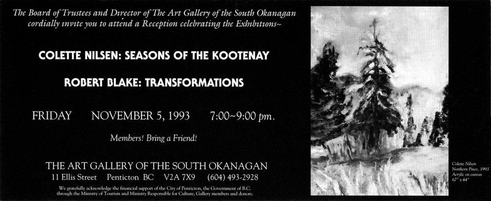 1993 Seasons of the Kootenay invite