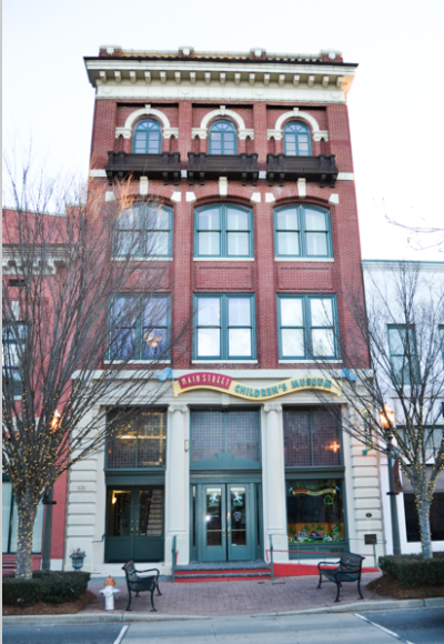 The Main Street Children's Museum is now located on the first floor of the historic People's Bank building