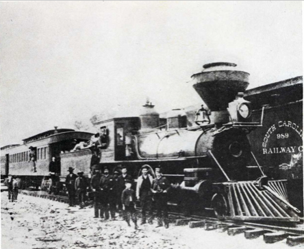 An early train in Rock Hill. City Without Cobwebs – Brown, 1953