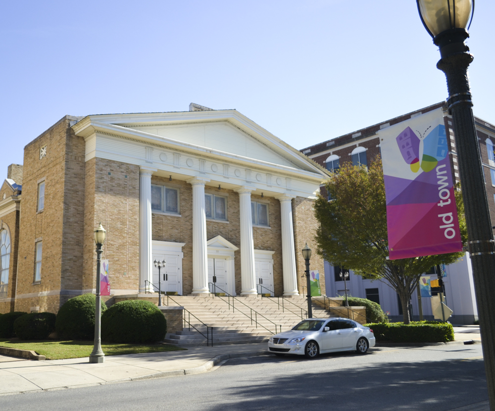 Freedom Temple Church occupies the Old Baptist Church building today at 215 East Main Street
