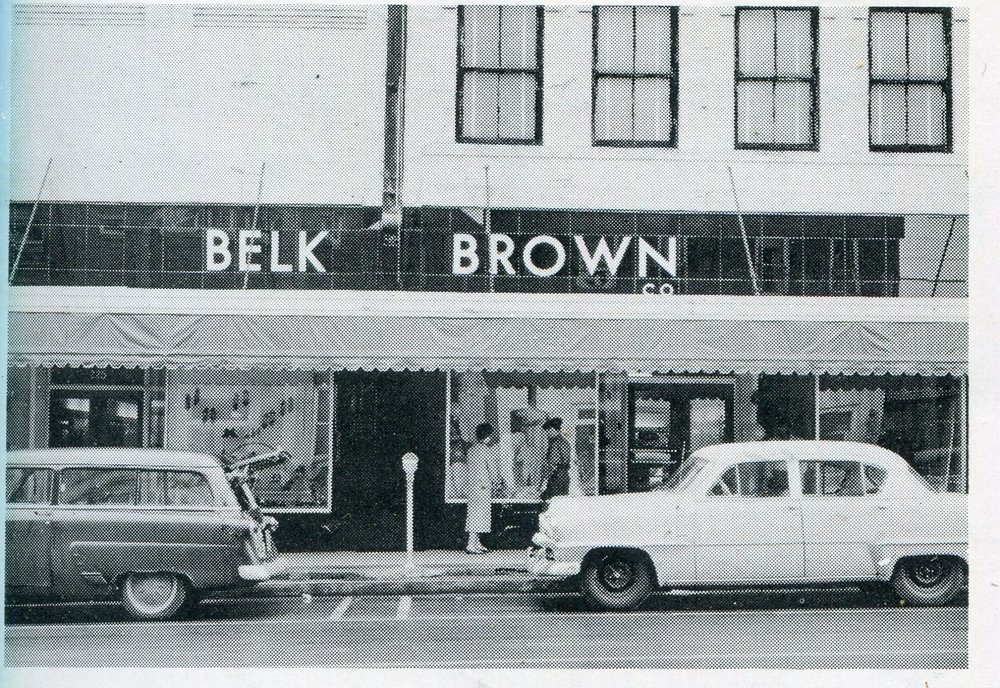 Belk Brown occupied both 225 and 227 Main Street at one time