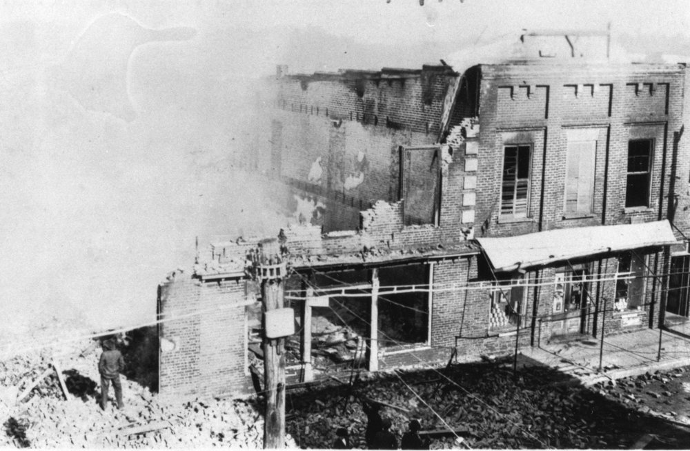 229 Main standing, 227 Main destroyed by fire in 1914