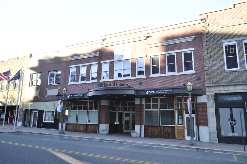 """Current location of the York County Chamber of Commerce.The Herald reported on Aug 27, 1914 -  """"that Mr. J.W. Efird is manager of the Rock Hill store of the Efird Dept. Store c hain. His brothers manage the other stores."""""""