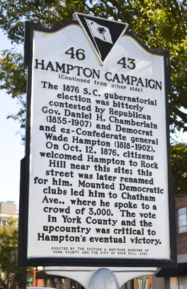 Current location of the Historic Marker (Corner of Hampton and East Black Streets).