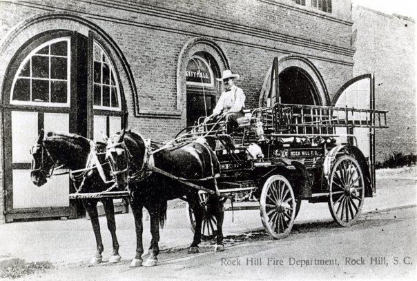The old Rock Hill Fire Dept. once stood across the street from this location, further up Hampton Street near East Main.
