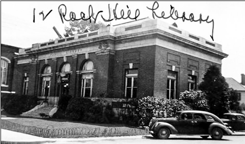 1940s image of the library courtesy of the SC Dept. of Archives and History.  Images were taken of all S.C. School and libraries for insurance purposes.