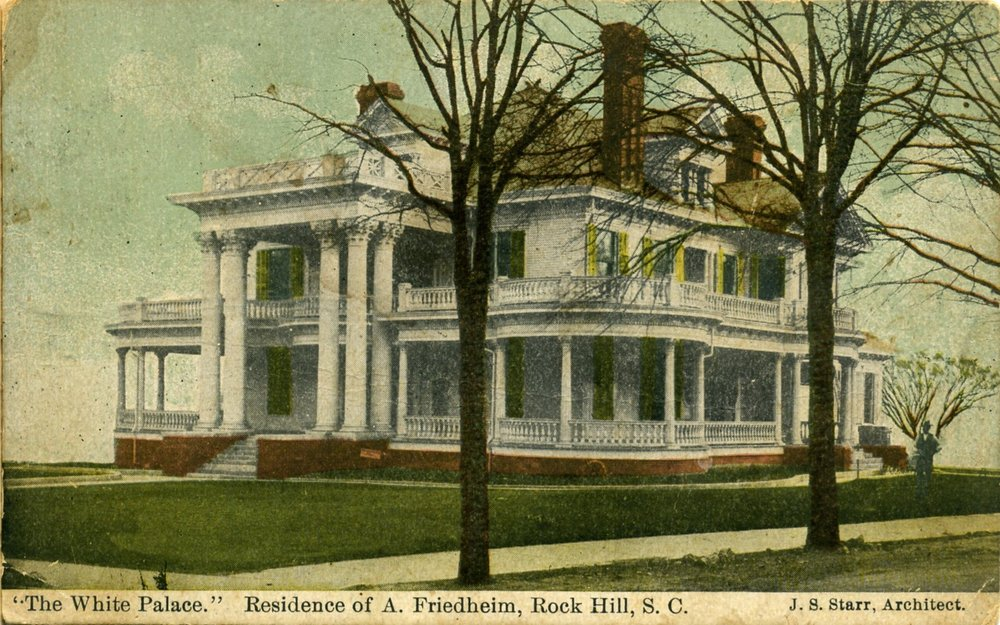 The Friedheim Home occupied the entire block between the First Pres. Church and Elizabeth Lane.