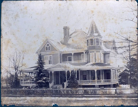 The historic Reid home on East Main Street, ca. 1910