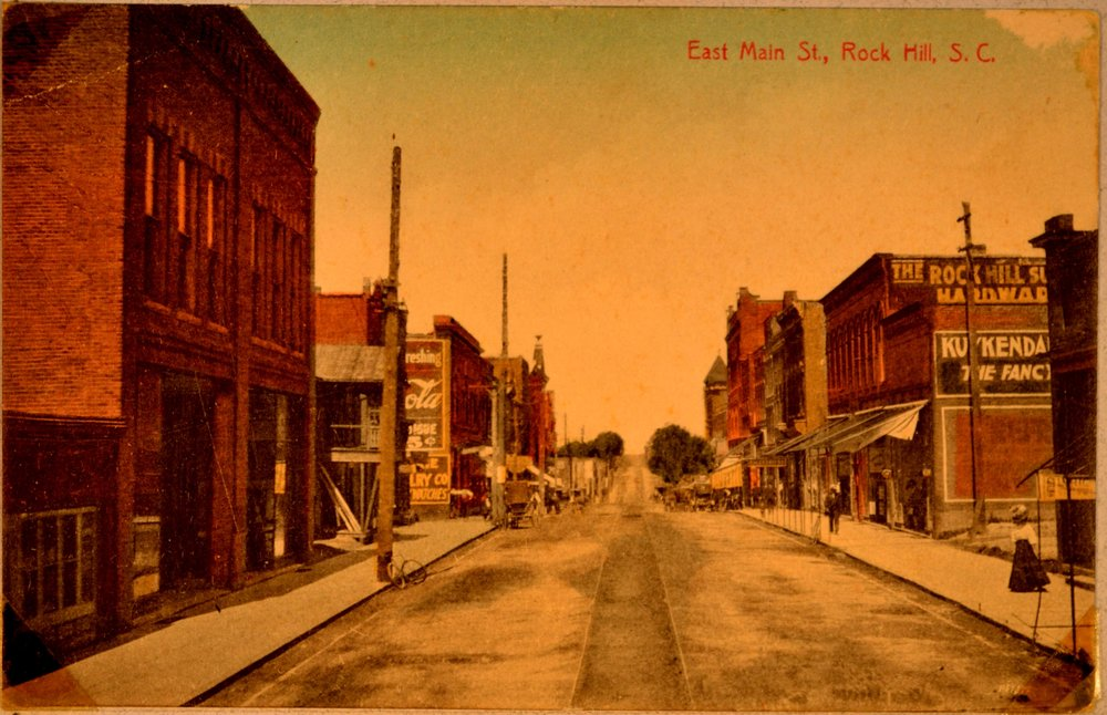 An early image of East Main Street prior to the construction of the dime store.