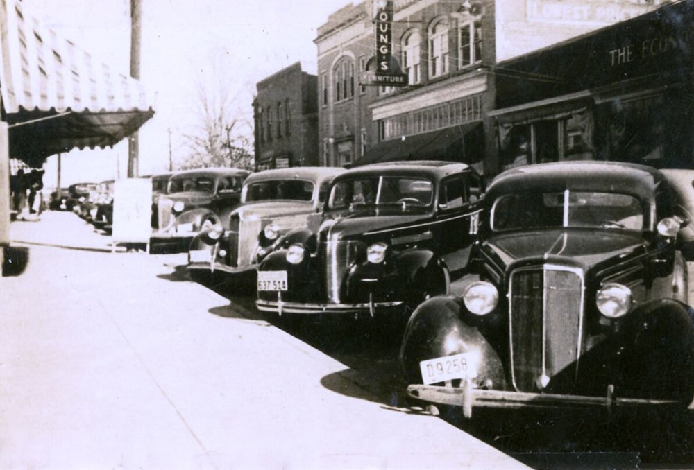 Main Street in the 1940s