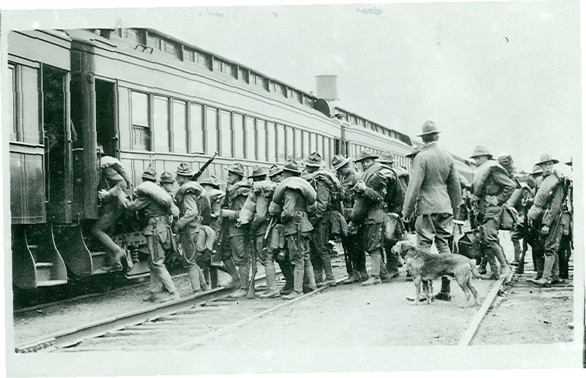 Loading the train for WWI