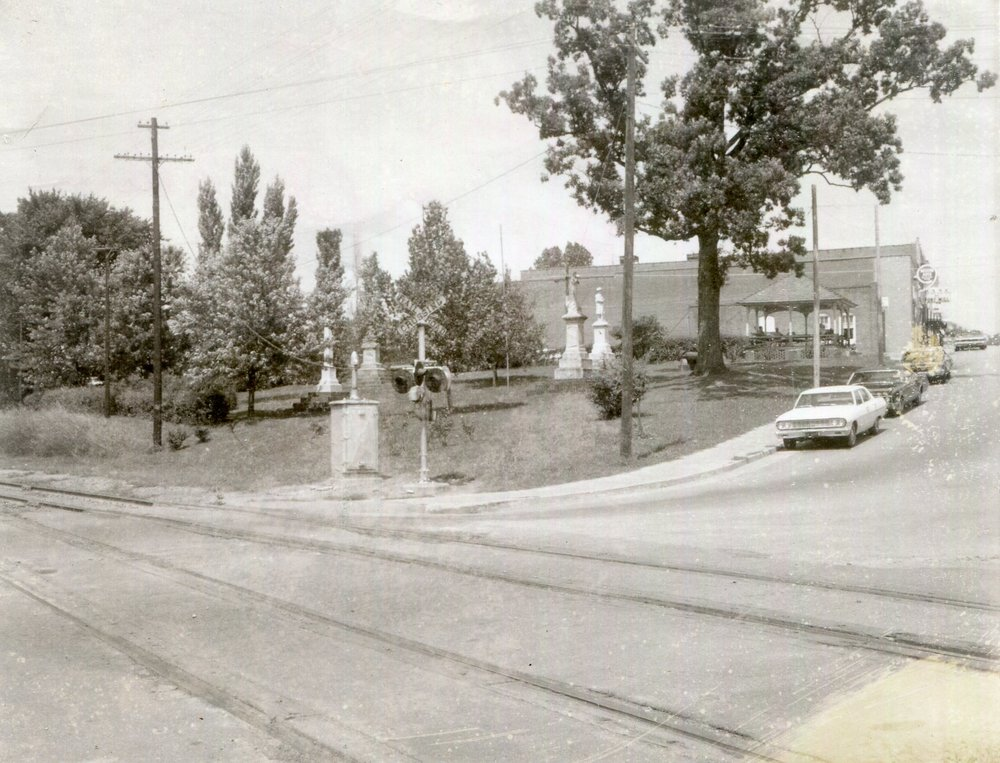 Confederate Park and the Bandstand in the 1960's