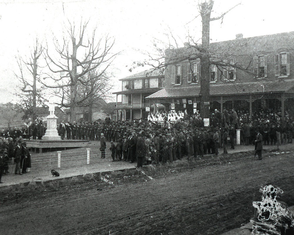 Confederate Park monument dedication - Dec 22, 1891