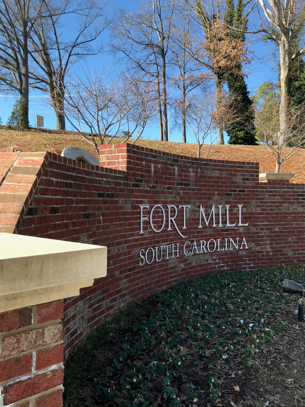 Fort Mill SC sign at Millstone Park.png