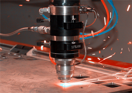 High purity nitrogen is used to remove molten metal in laser cutting.