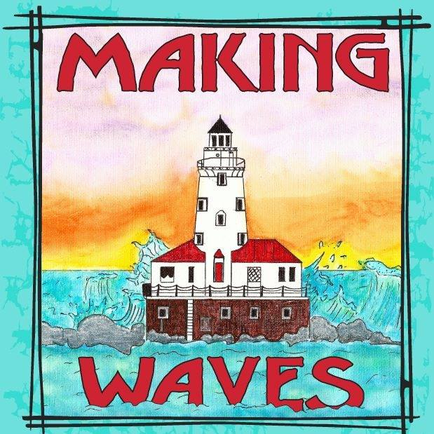 "This year's theme is ""Making Waves"" (Artwork by Loyola Park Coach Luis Rios)"
