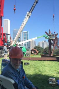 di Suvero at the installation of Magma