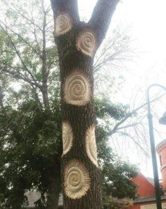 Anne Kamilla Alexander's  Solspirals  at Harrison Park