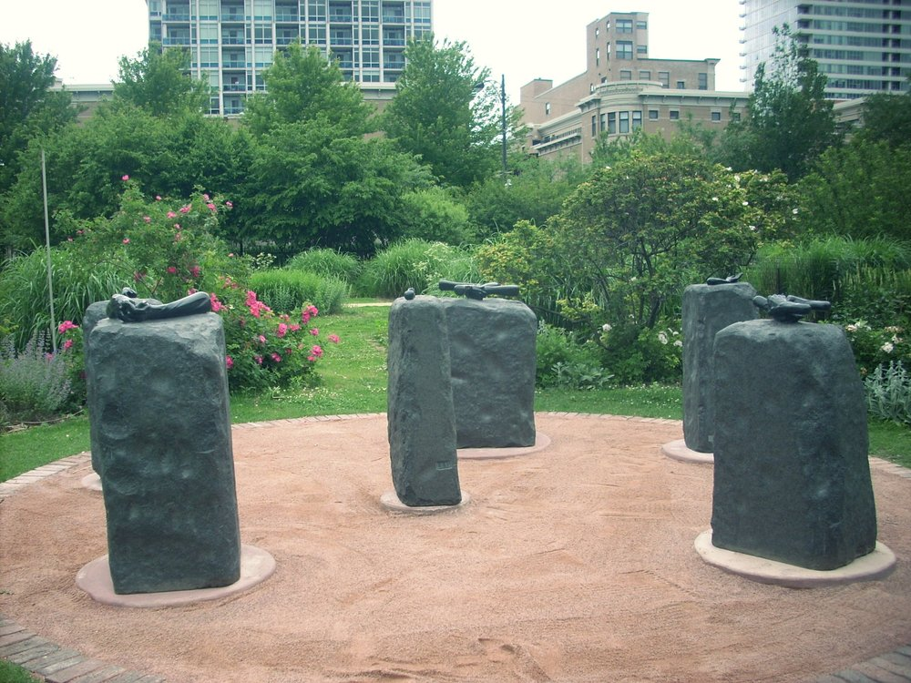 Helping Hands Monument  honors Chicago's famous social reformer Jane Addams in the Chicago Women's Park & Gardens