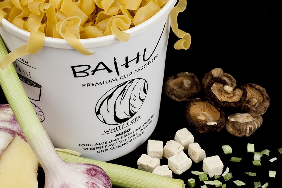 Baihu Instant Noodles - White Tiger - Beste  Rohstoffe