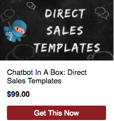 Chatbot in a box direct sales templates