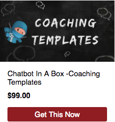 chatbot in a box coaching templates