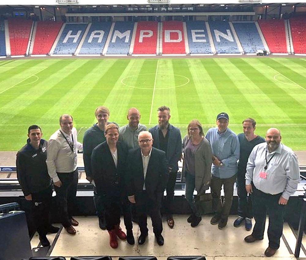 WFS meet with the Football Association of Finland at Hampden Park