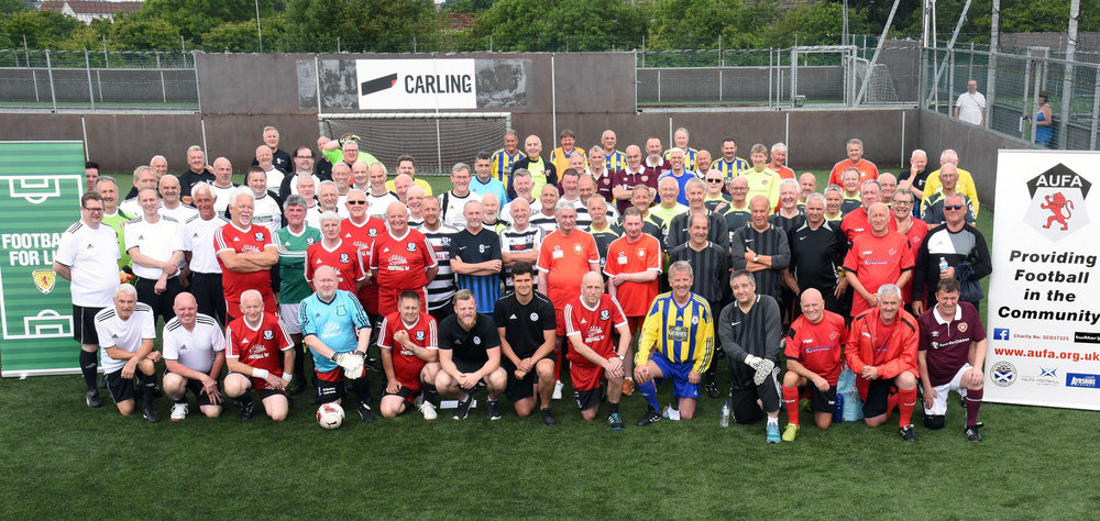 THE TEAMS LINE UP BEFORE THE TOURNAMENT IN AYR.