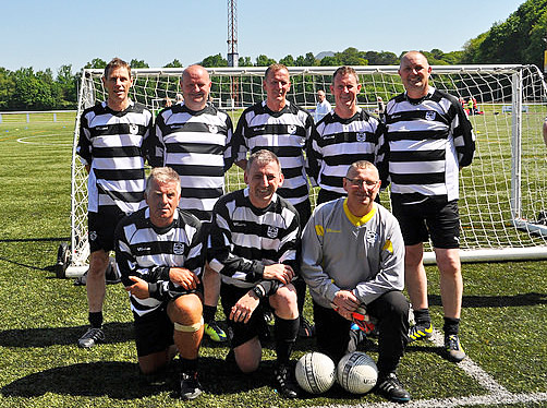 Gretna 2008 walking football squad