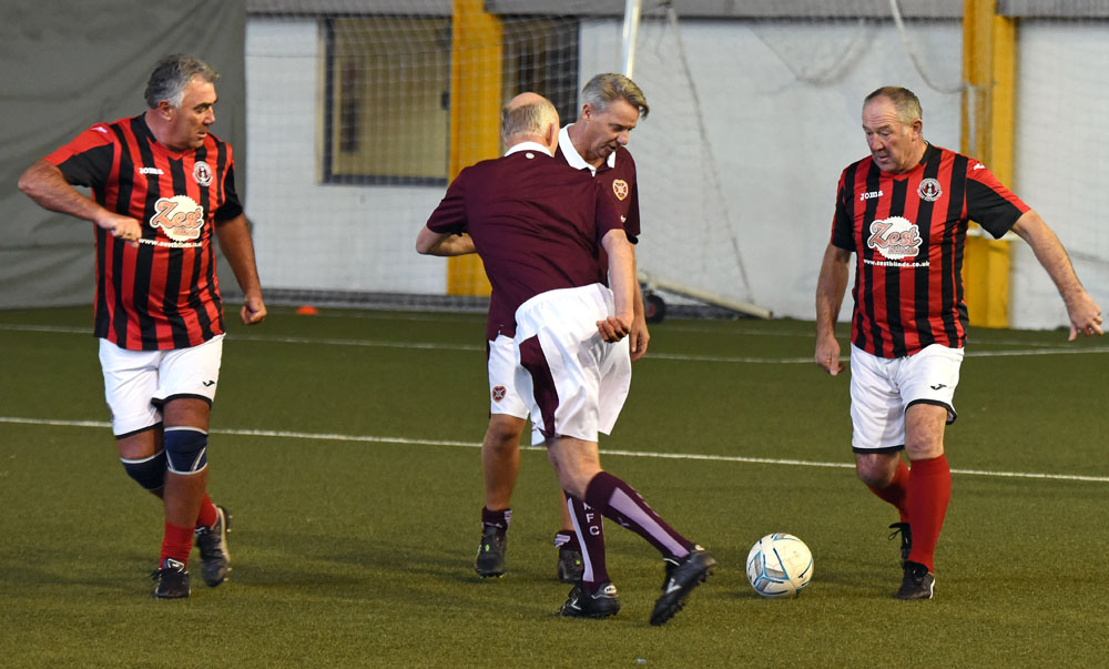 Action from the Hearts 56 V Gala Fairydean Rovers 1-1 draw today