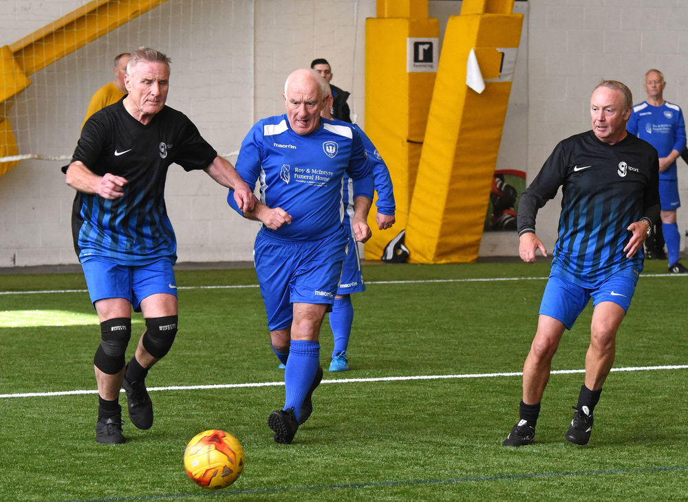 Action from Tullibody V Glasgow Sport