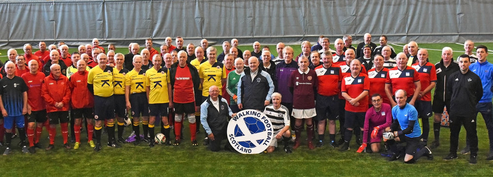 Photograph from the Over 65's league launch in March.