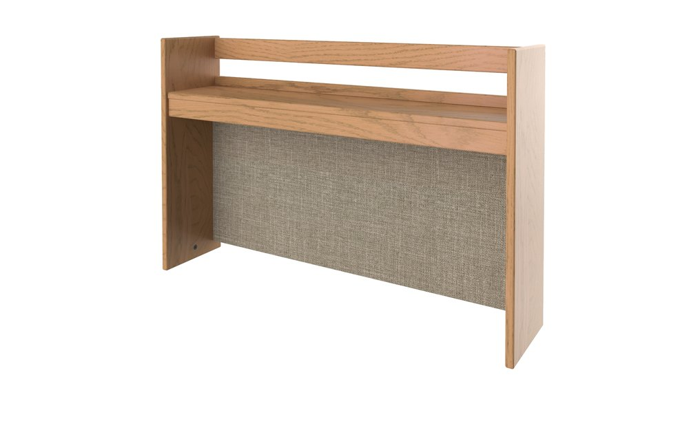 Classic Single Shelf with Upholstered cork board
