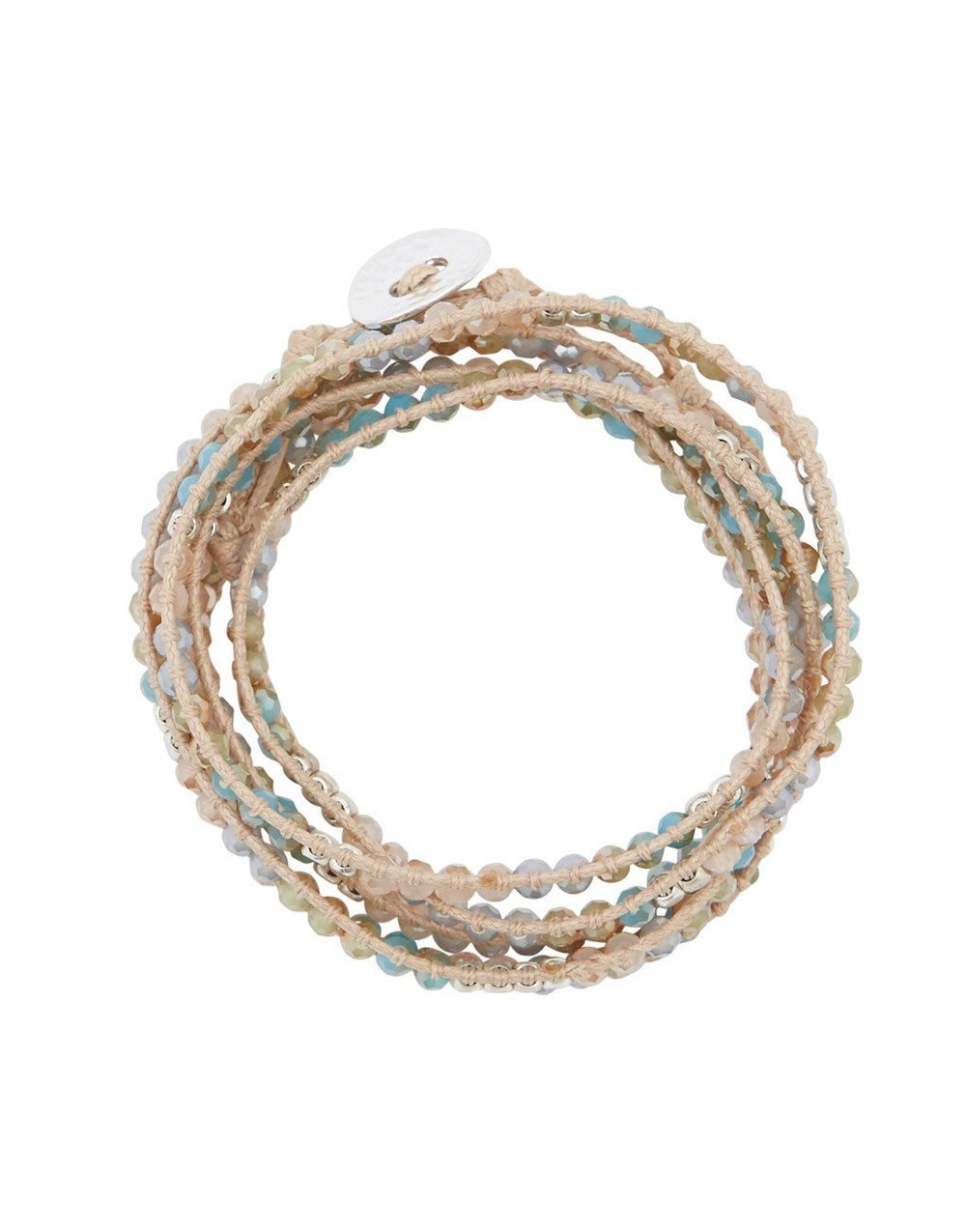 THE LITTLE MARKT   Stone & Crystal Wrap Bracelet - Wind