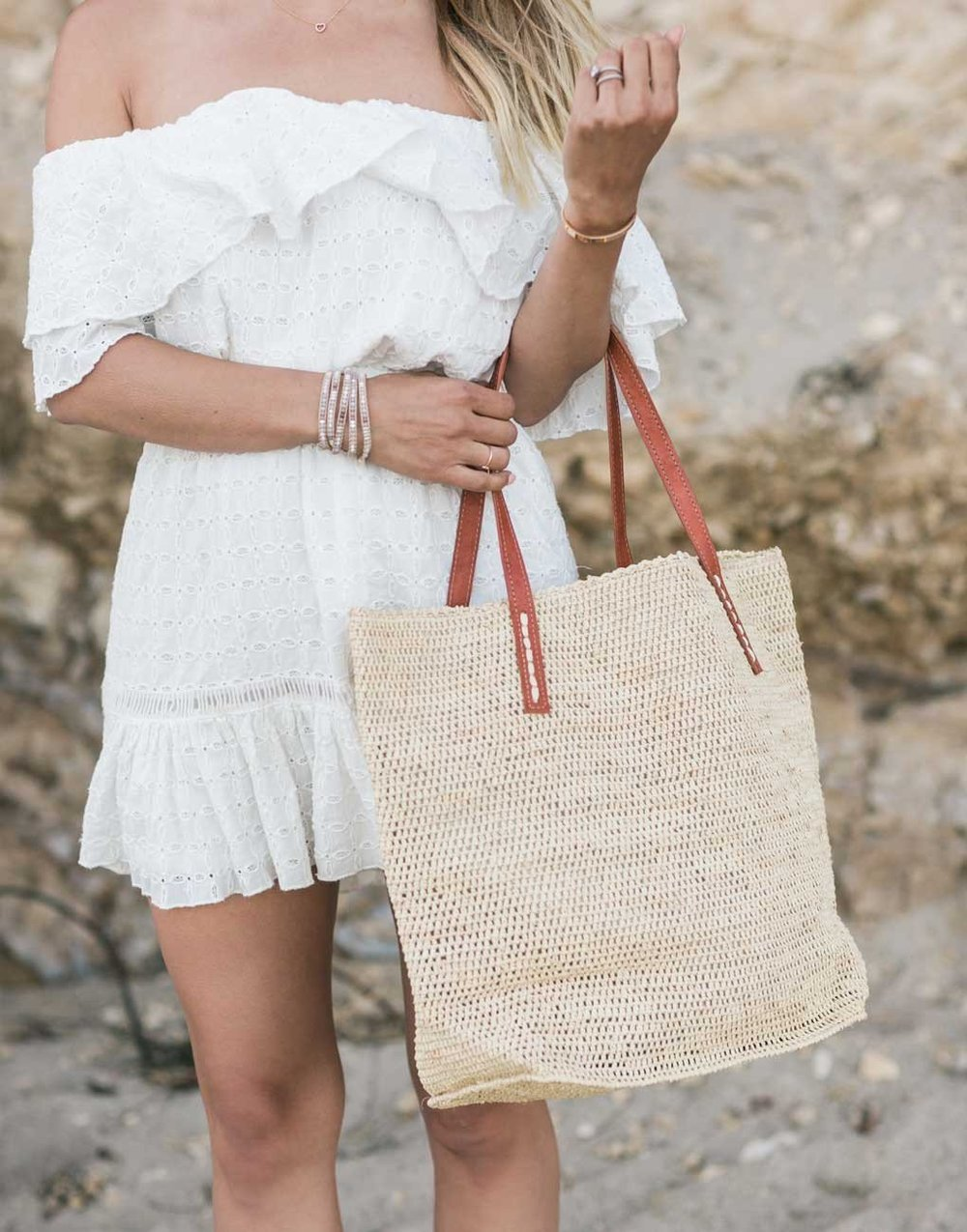 THE LITTLE MARKET   Tote Bag - Sand