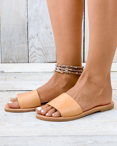 GREEK LEATHER LAB   Greek Leather Sandals - Mylos Leather