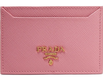 PRADA  Teaxtured Leather Cardholder