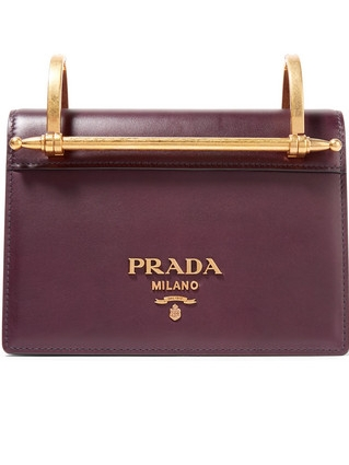 PRADA   Pattina Leather Shoulder Bag
