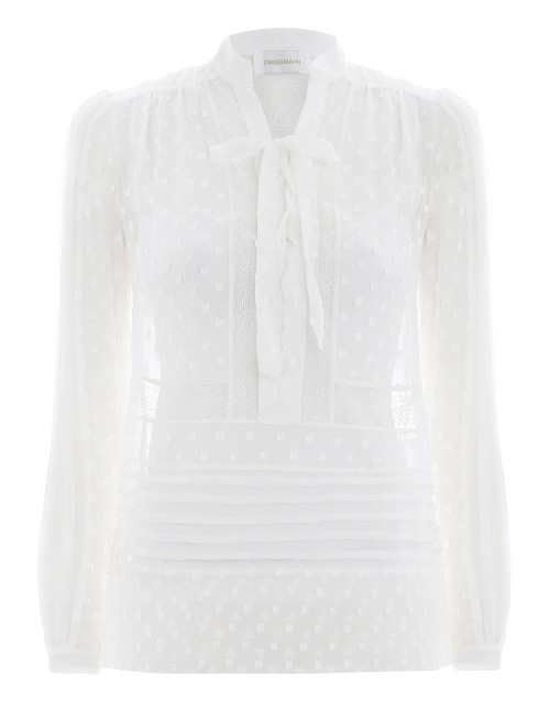 ZIMMERMAN   Radiate Tie Up Blouse