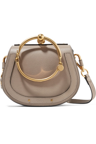 CHLOÉ   Nile Bracelet Small Textured Leather and Sede Shoulder Bag