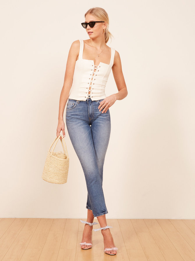 REFORMATION   Julia Crop High Cigarette Jean