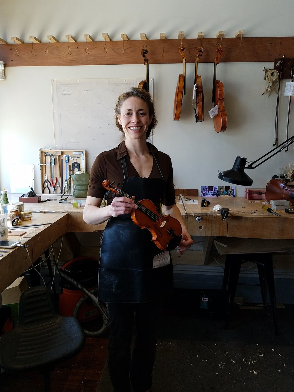 Sarah Gray, our luthier! Visit her website:  sarahgrayrestoration.com