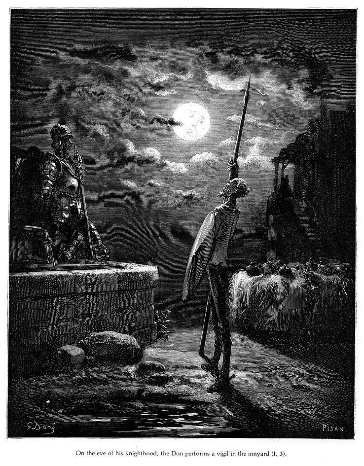 """""""But Sancho spent not his time so vainly; for, having his stomach well stuffed, and that not with succory water, he carried smoothly away the whole night in one sleep…"""" - — Charles W. Eliot (Don Quixote)"""