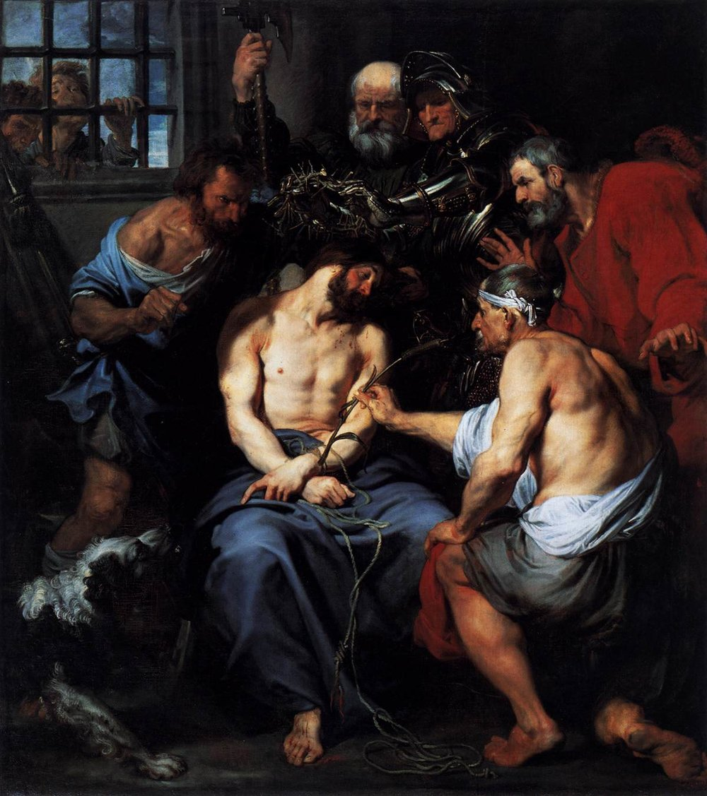 Christ Crowned with Thorns    by   Anthony van Dyck 1619-1620. Image in the Public Domain [6]