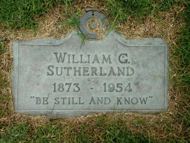 William Sutherland's grave
